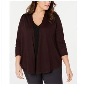 Eileen Fisher Plus Size Wool Cardigan Sweater 1X